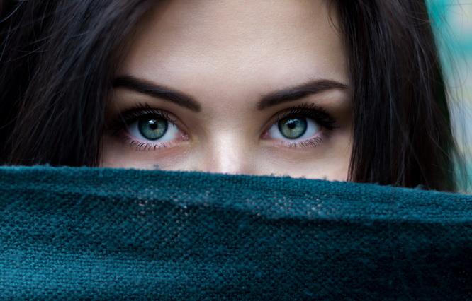 Vidac, biljka za oči, žena